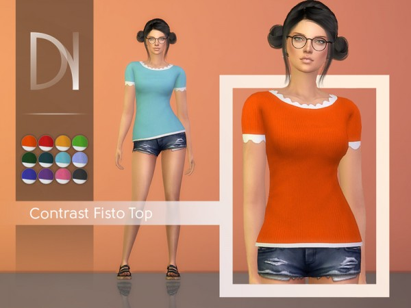 The Sims Resource: Contrast Fisto Top by DarkNighTt