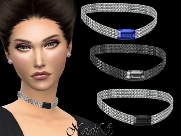 The Sims Resource: Diamond choker with precious stone by Natalis