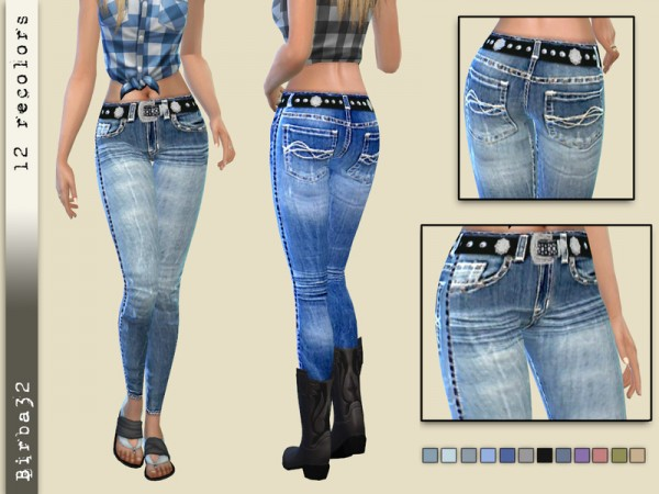 The Sims Resource: Cowgirl Jeans Tight by Birba32