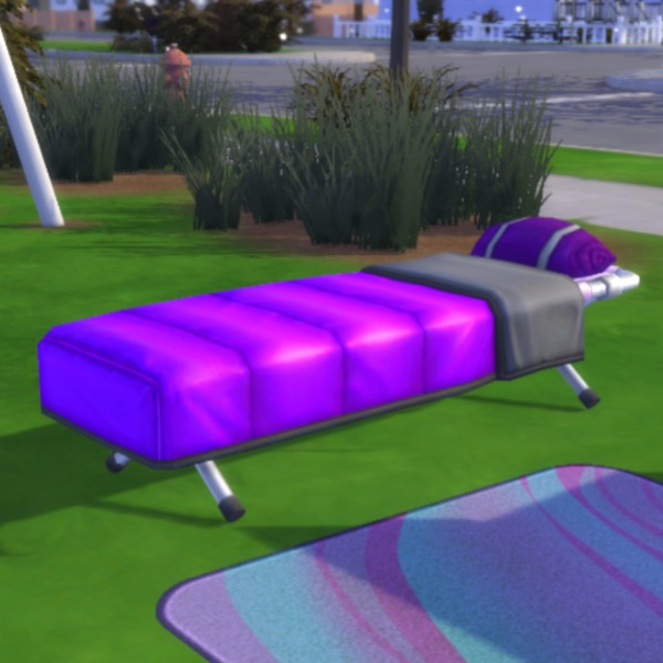 Simsworkshop: Purple Gordian Cot by MsWigglySimmer