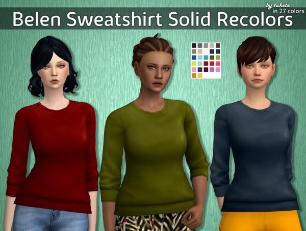 Tukete: Belen Sweatshirt Solid Recolors