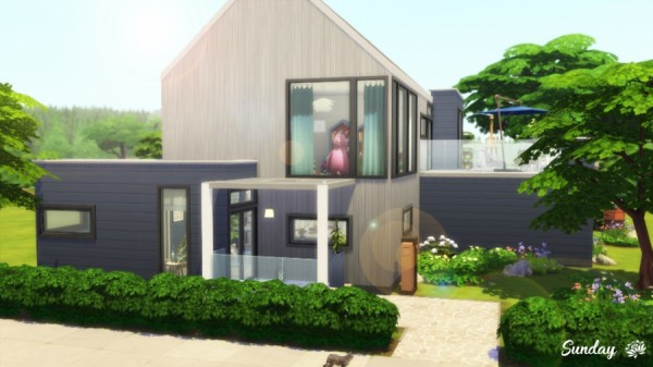 Sims Artists: Cosy Blue house