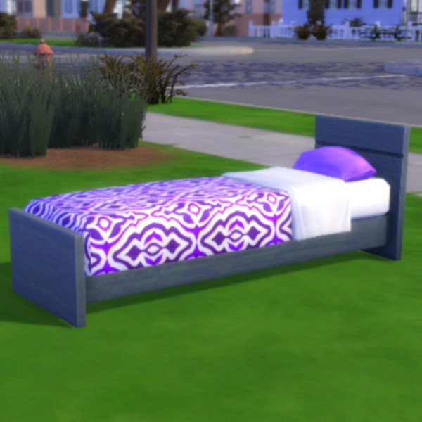 Simsworkshop: Purple Mod Pod Sleeper by MsWigglySimmer