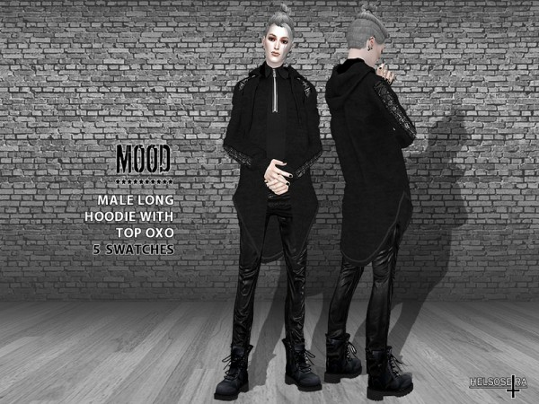 The Sims Resource: MOOD  Long Hoodie with Top by Helsoseira