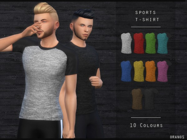 The Sims Resource: Sports T Shirt by OranosTR