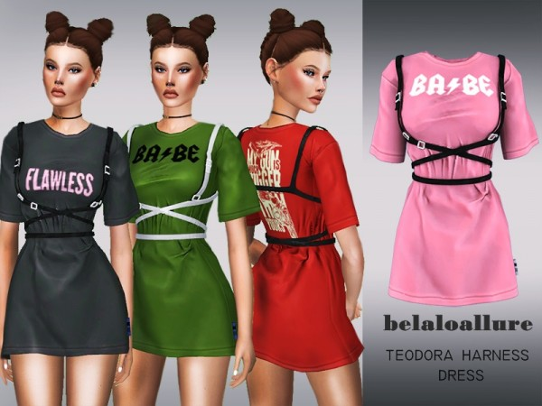 The Sims Resource: Theodora harness dress by belal1997