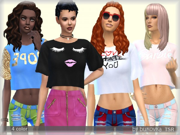 The Sims Resource: Shirt Female by bukovka
