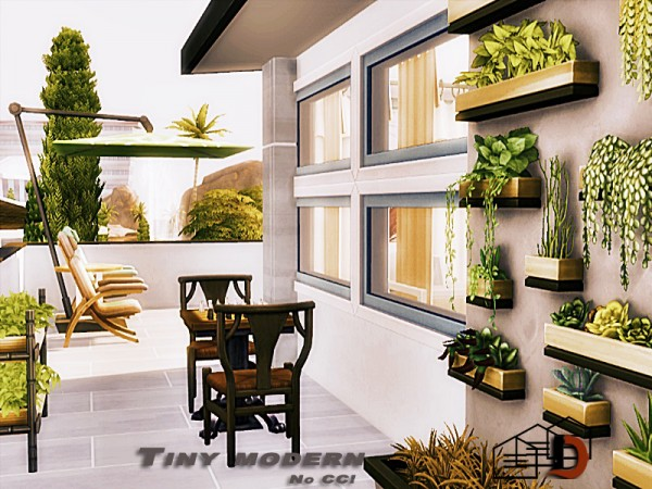 The Sims Resource: Tiny modern house by Danuta720