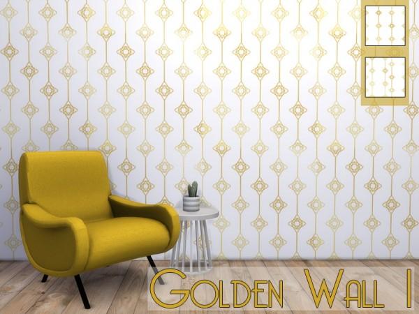 Models Sims 4: Golden wall 1