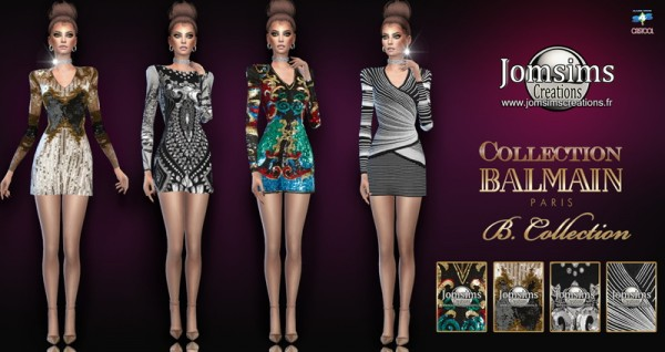 Jom Sims Creations: B collection dresses