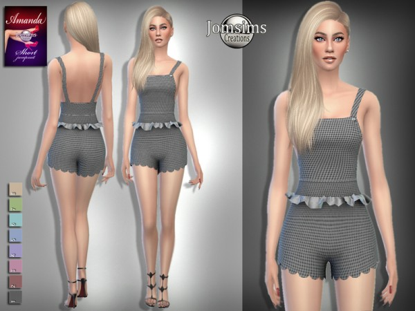 The Sims Resource: Amanda short jumpsuit by jomsims