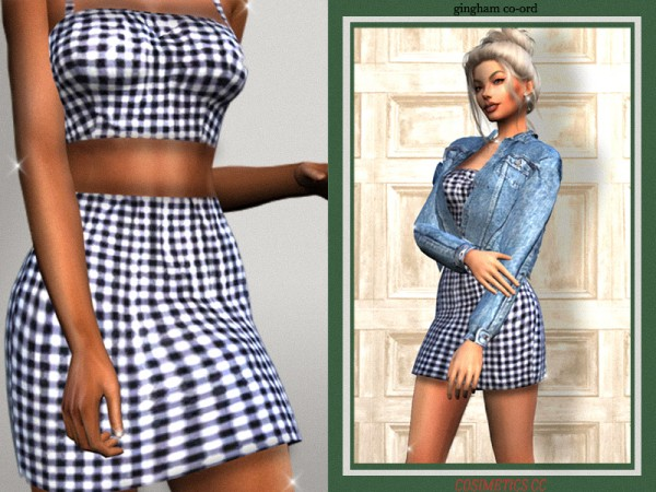 The Sims Resource: Gingham Coord outfit by cosimetics