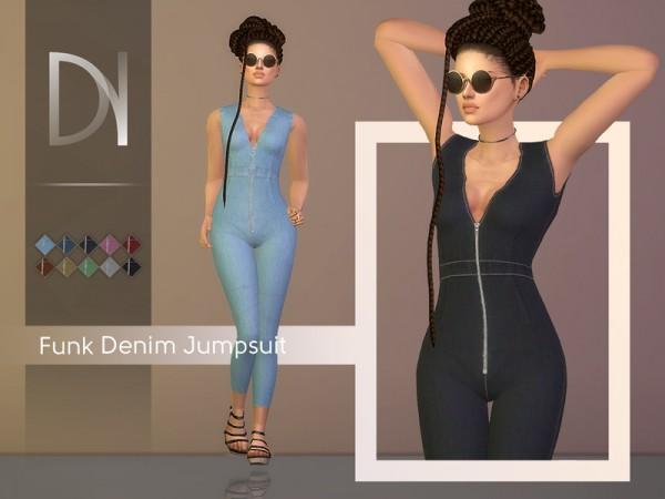 The Sims Resource: Funk Denim Jumpsuit by DarkNighTt