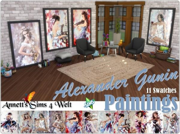 Annett`s Sims 4 Welt: Alexander Paintings