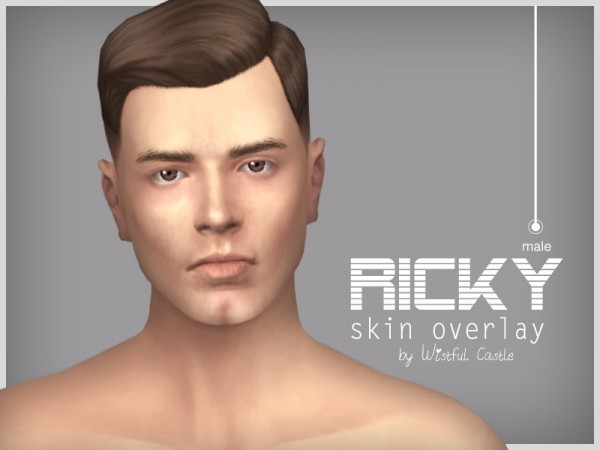 The Sims Resource: Ricky   male skin overlay by WistfulCastle