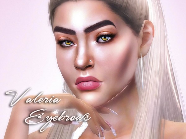 The Sims Resource: Valeria Eyebrows by KatVerseCC