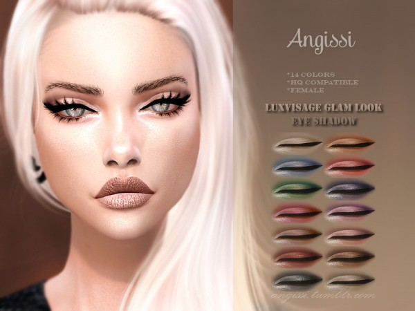 The Sims Resource: Luxvisage Glam Look Eyeshadow by ANGISSI