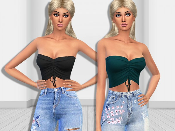 The Sims Resource: Bella Strapless Tops by Saliwa