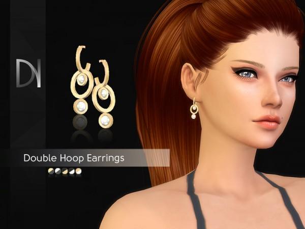 The Sims Resource: Double Hoop Earrings by DarkNighTt