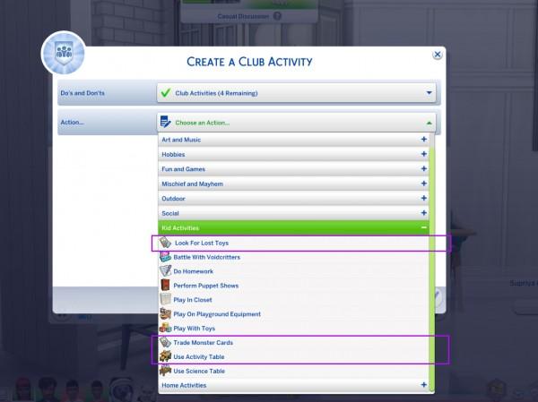 Mod The Sims: Custom Club Activities by icemunmun
