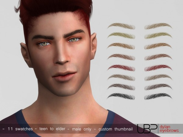 The Sims Resource: Dylan eyebrows by Urielbeaupre