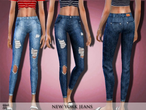 The Sims Resource: New York Jeans by Black Lily