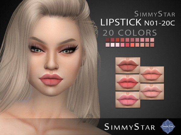 The Sims Resource: Lipstick N01 C20 by Simmy.Star