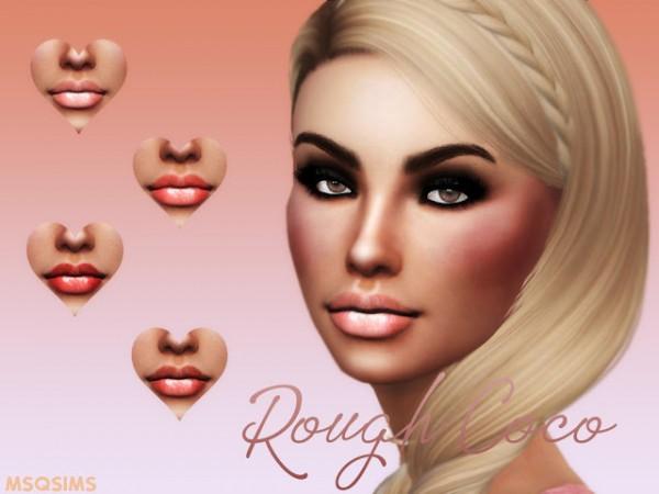 MSQ Sims: Rough Coco Lipstick