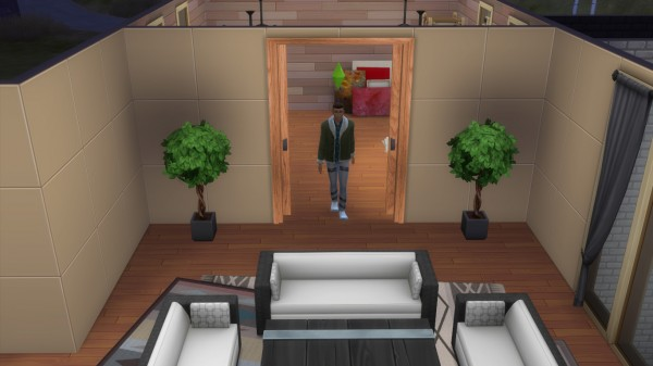 Mod The Sims: Railed Sliding Door by AshenSeaced