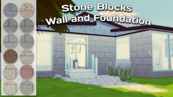 Simming With Mary: Stone Blocks Wall and Foundation