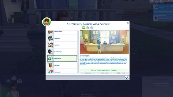 Mod The Sims: Pharmacist Career by xTheLittleCreator