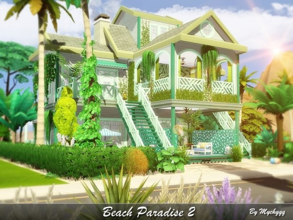 The Sims Resource: Beach Paradise house 2 by MychQQQ