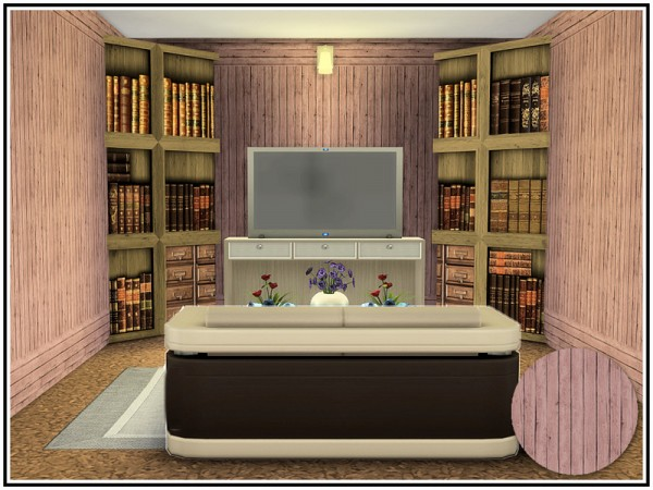 The Sims Resource: Economy Timber Panel Walls by marcorse