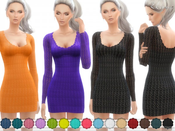 The Sims Resource: Crochet Sweater Dress by ekinege