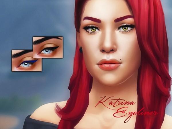 The Sims Resource: Katrina Eyeliner by KatVerseCC