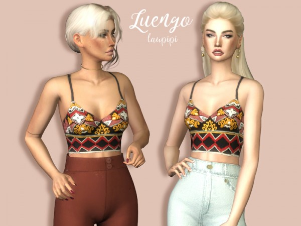 The Sims Resource: Luengo crop top by laupipi