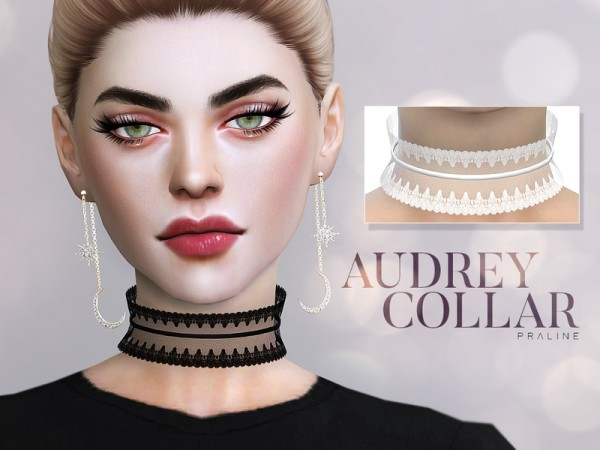 The Sims Resource: Audrey Collar by Pralinesims