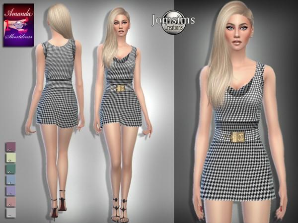 The Sims Resource: Amanda short dress 1 by jomsims
