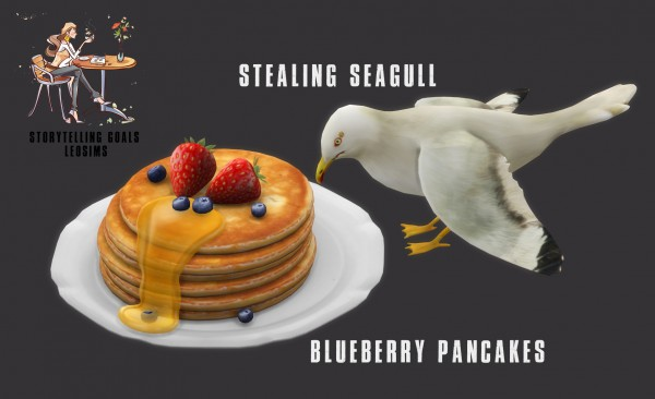 Leo 4 Sims: Pancakes and Stealing Seagull