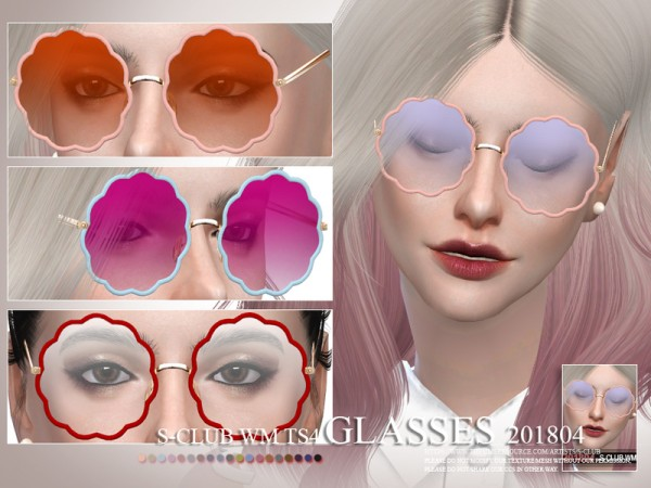 The Sims Resource: Glasses F 201804 by S Club