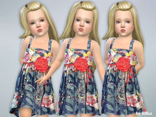 The Sims Resource: Coral Dress by lillka