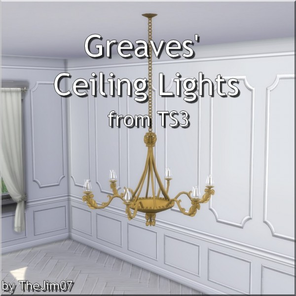 Ceiling Lamp The Sims 4: Mod The Sims: Greaves' Ceiling Lights By TheJim07 • Sims 4