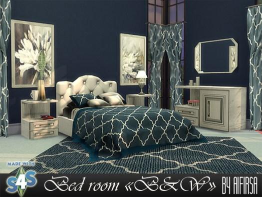 Aifirsa Sims: Bedroom furniture B & W
