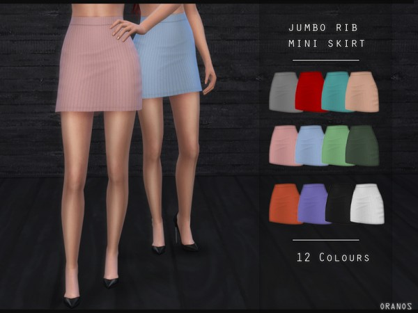 The Sims Resource: Jumbo Rib Mini Skirt by OranosTR