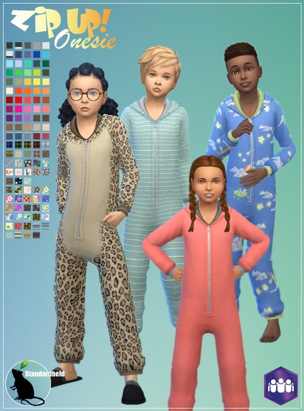 Simsworkshop: Zip Up! Onesie by Standardheld