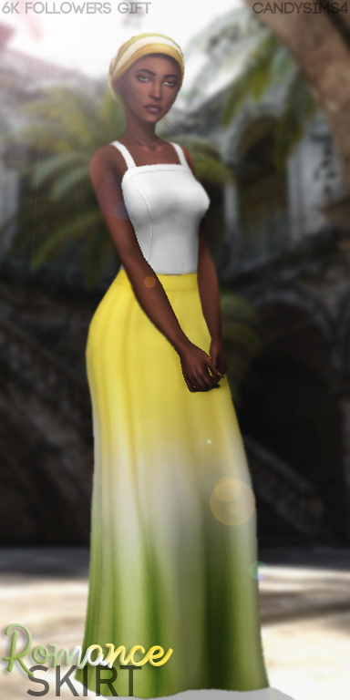 Candy Sims 4: Romance skirt