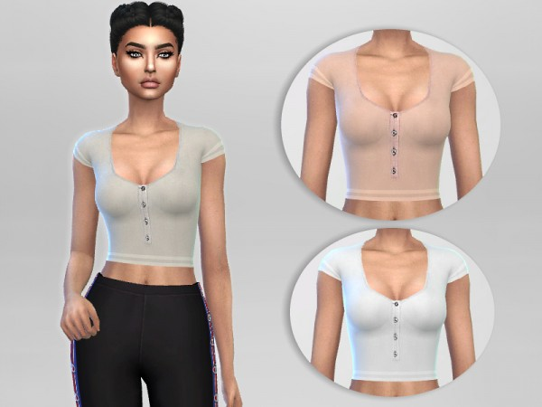 The Sims Resource: Casual Top by Puresim