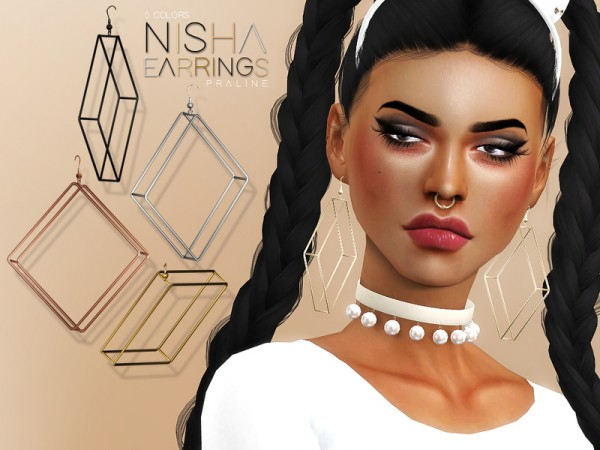 The Sims Resource: Nisha Earrings by Pralinesims