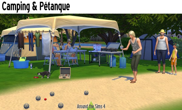 Around The Sims 4: Camping and bowling
