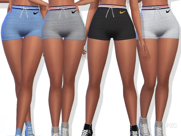 The Sims Resource: Sporty Summer Shorts by Pinkzombiecupcakes